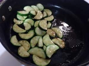Zucchinis just browned
