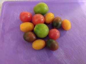 Heirloom grape tomatoes