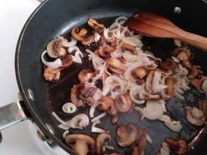 Add onions to the pan