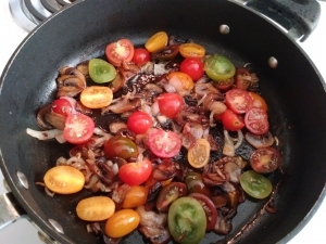 Add tomatoes to the pan