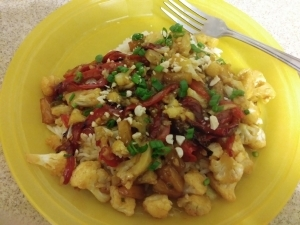 Sweet and Sour Cauliflower Stir Fry meal