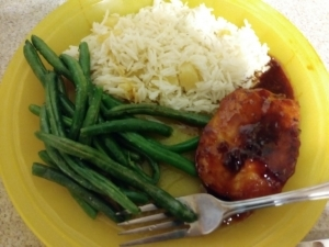 Cherry Chicken Cutlets meal