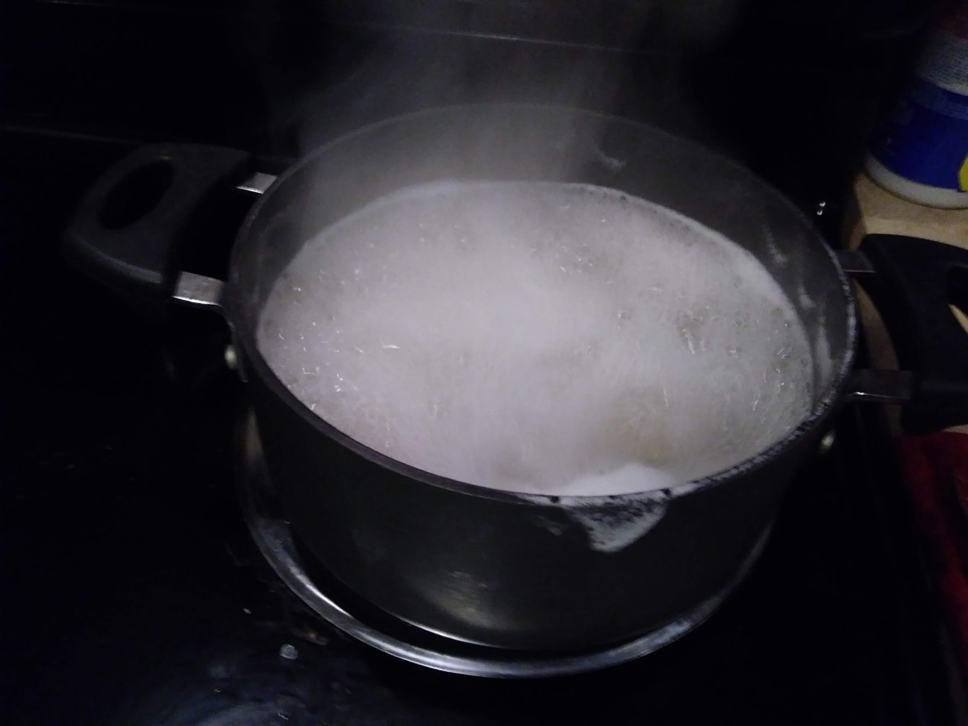Cooking the pasta