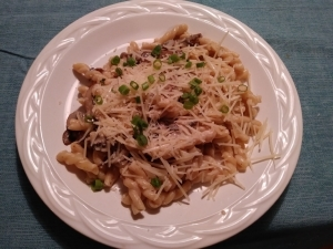 Cremini Gemelli finished plate