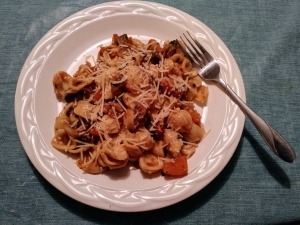 butternut squash and sage pasta meal