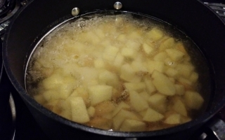 potatoes boiling