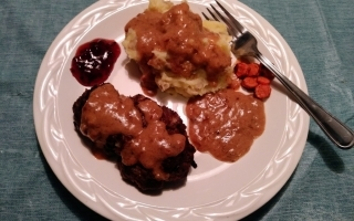 Swedish Meatloaves meal