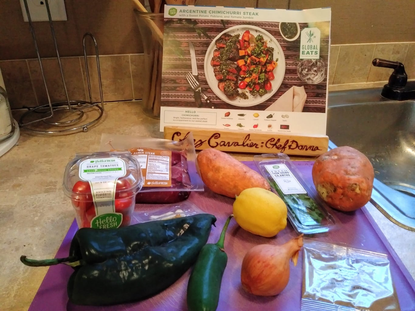 Argentine Chimichurri Steak ingredients