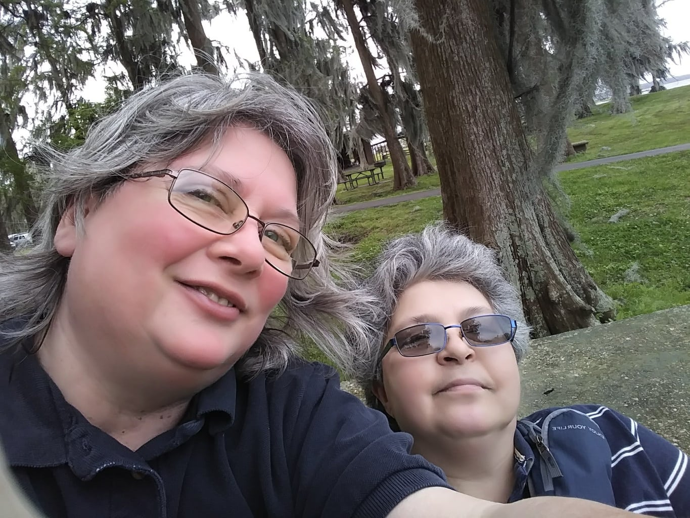 Gail and I at Lake End Park, Morgan City, LA