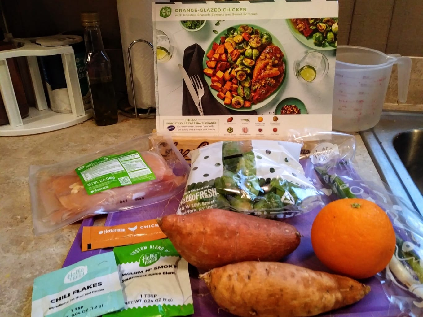 Orange Glazed Chicken ingredients