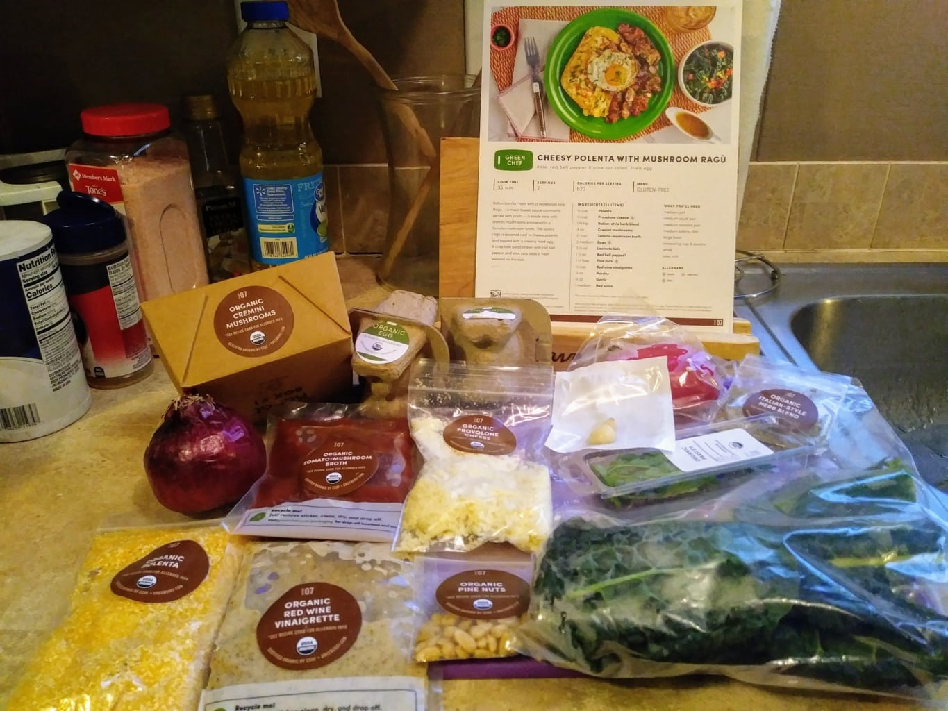 Cheesy Polenta ingredients