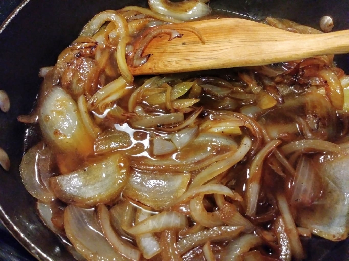 Onions and au jus ready