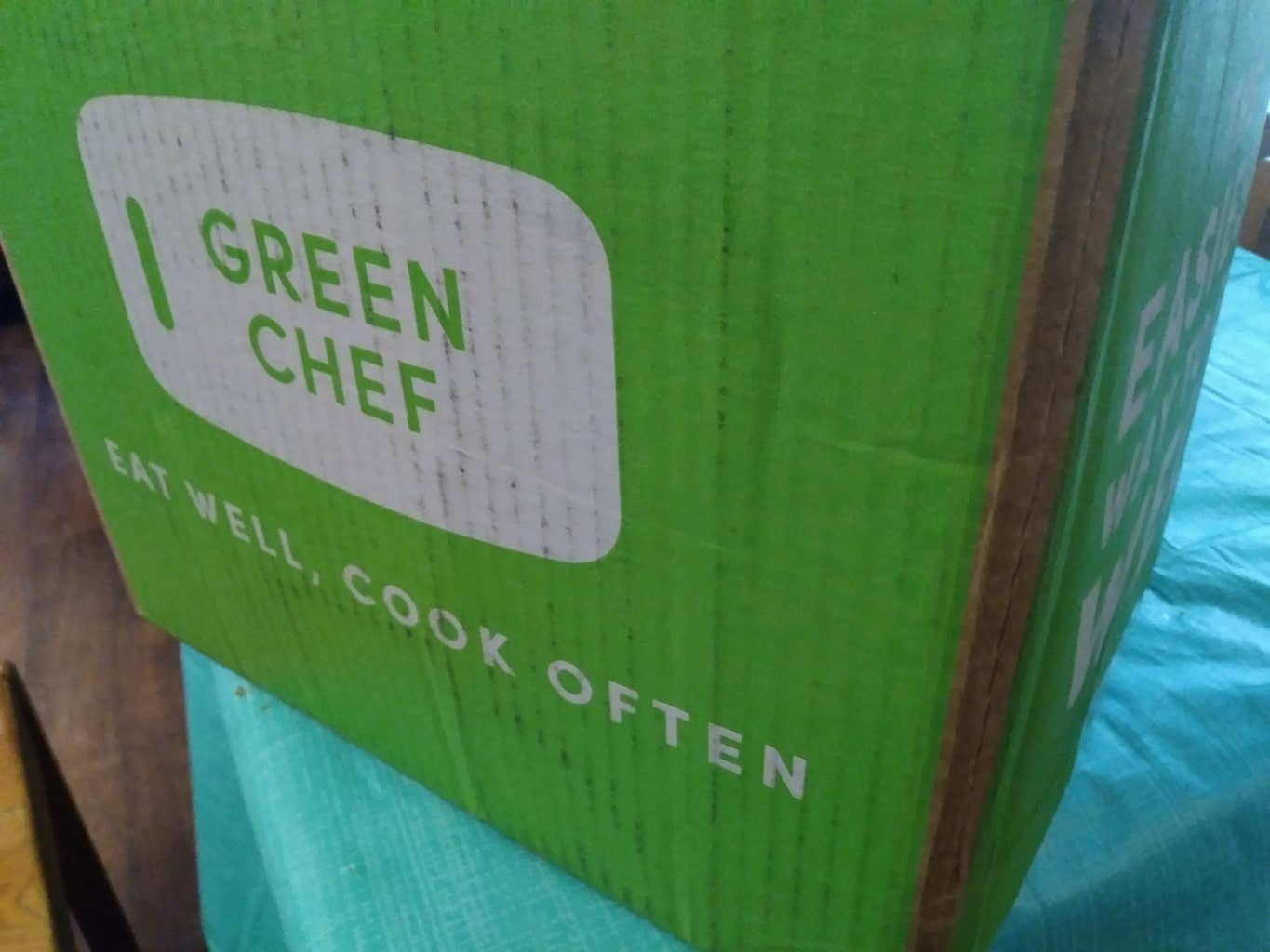 Green Chef meal kit box