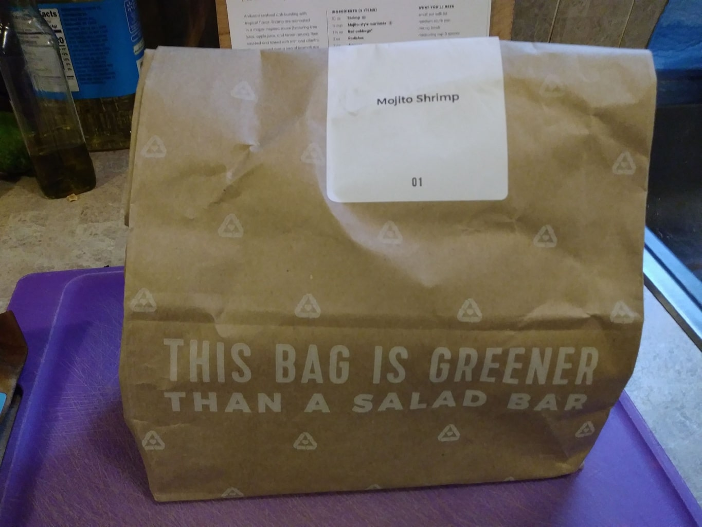Green Chef meal bag
