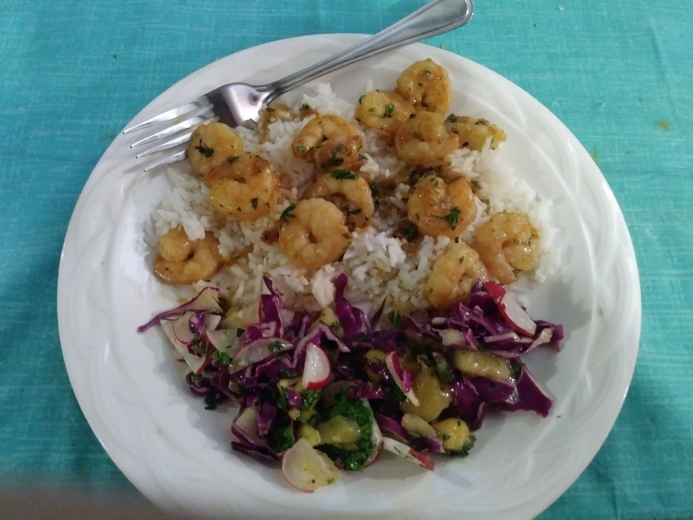 Mojito Shrimp finished plate