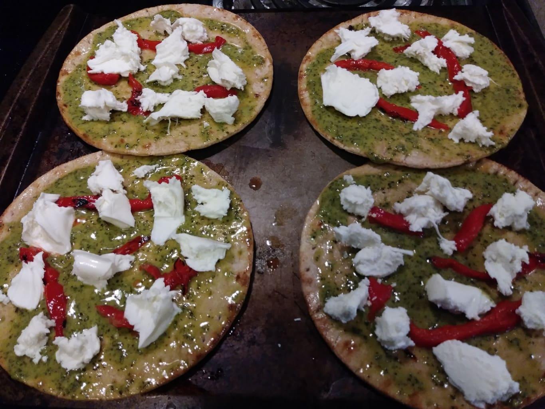 Add the fresh mozzarella