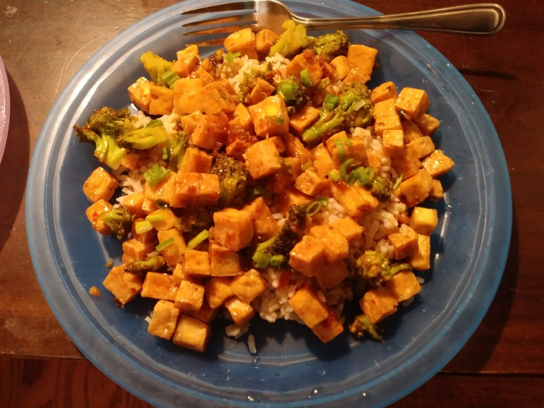 General Tso's Tofu finished plate