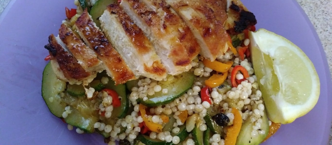 Seared Chicken Over Couscous meal kit