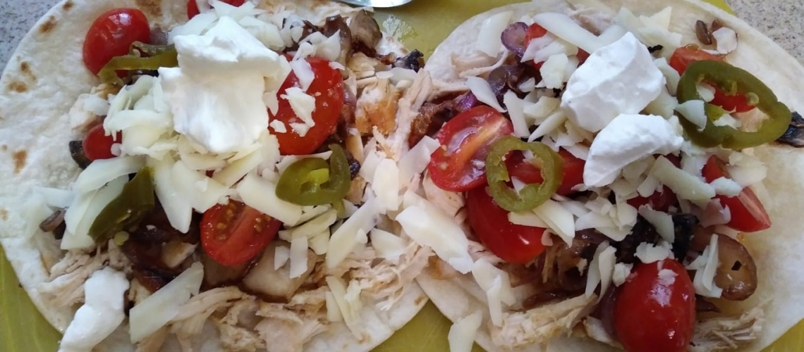 Chipotle-Lime Chicken Fajitas meal