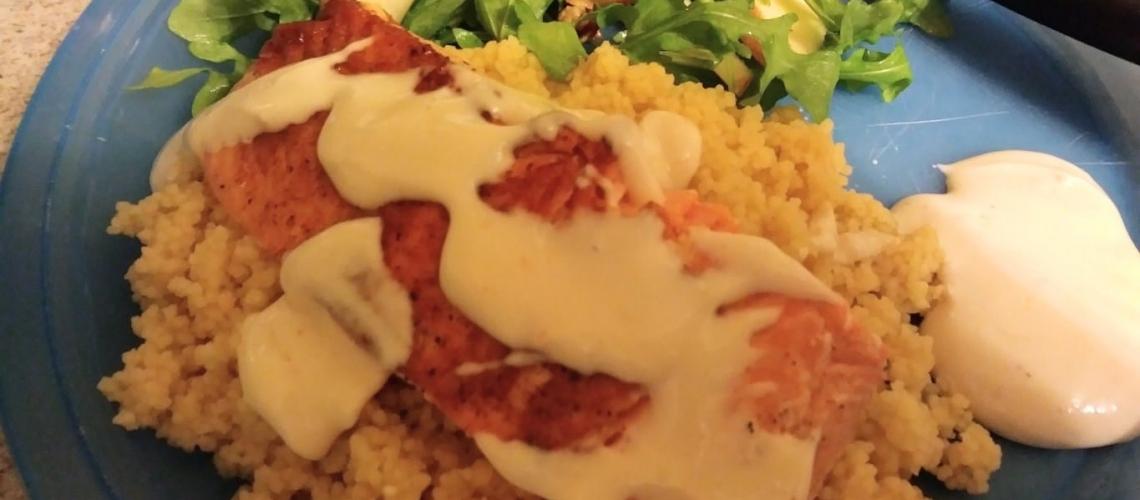 Turkish Dijon Salmon Over Couscous meal kit