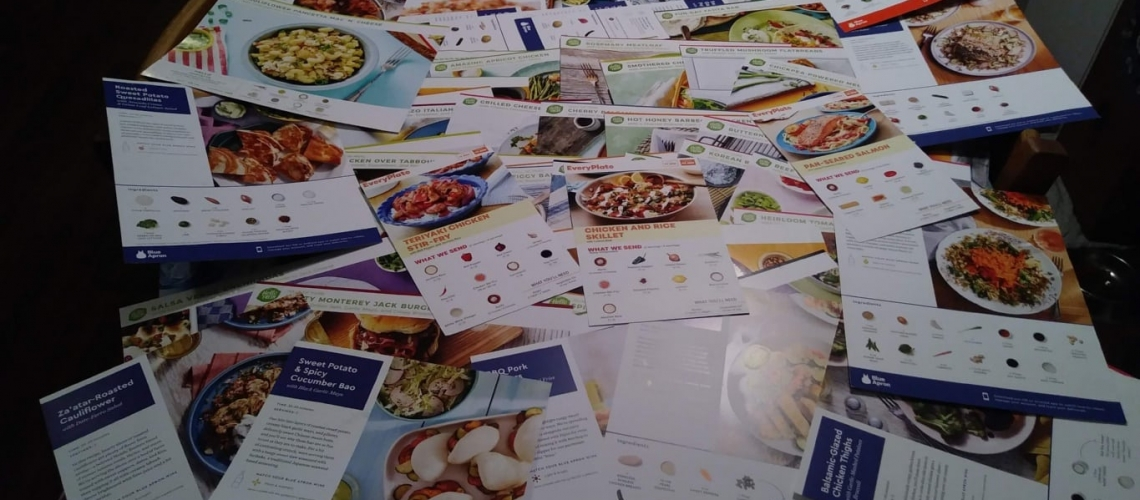 103 meal kit recipe cards